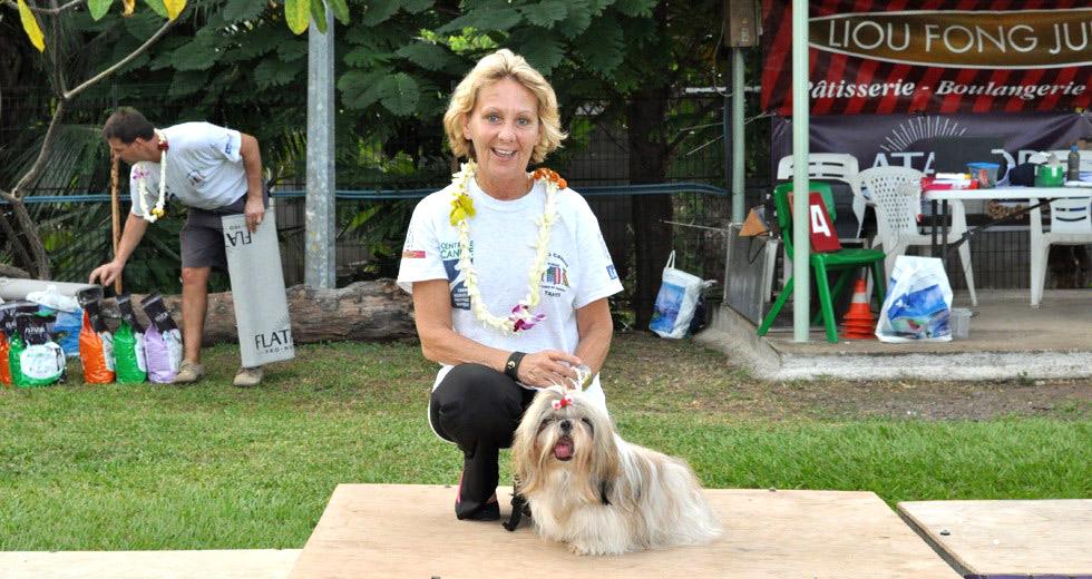 Catherine Rougeolles, correspodante du Club des Chiens Tibétains de France pour la Polynésie française